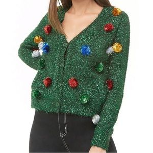 Forever21 Tinsel Christmas Holiday Sweater